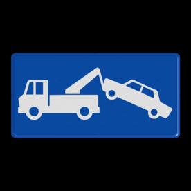Verkeersbord Wegsleepregeling van kracht Verkeersbord België - Wegsleepregeling eigen terrein, privé terrein, verboden, BT01, toegang, onbevoegden