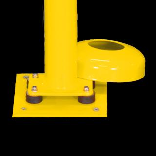 Afzet-, rampaal (SH1) 70x70 mm - geel/zwart verzinkt en gecoat staal)