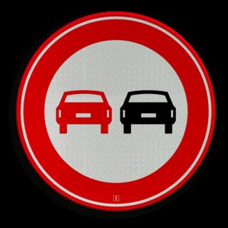 Verkeersbord RVV F01 - Voertuigen - verboden in te halen