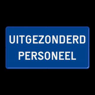 Verkeers-onderbord - met eigen tekst