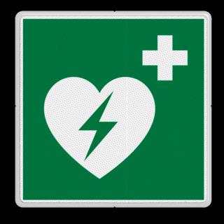 Veiligheidspictogram - AED - E010