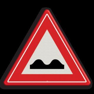 Verkeersbord RVV J01 - Vooraanduiding slecht wegdek