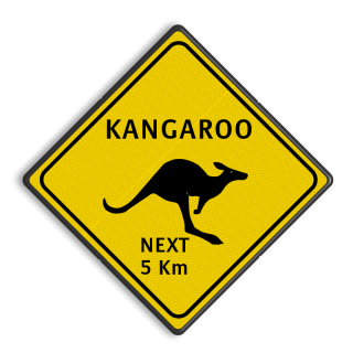 Verkeersbord Australie - KANGAROOS