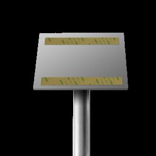 Verkeersbordpaal 45º Lessenaar t.b.v. DOR bord