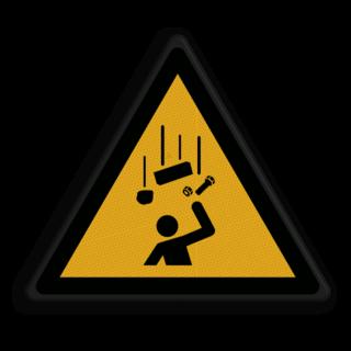 Veiligheidspictogram -  Pas op! vallende onderdelen - W035