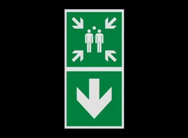 Verzamelplaats BHV pictogrammen