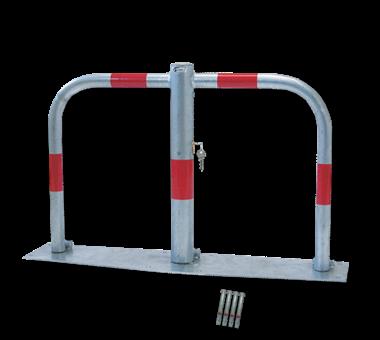 Antiparkeerbeugel 500x760x60mm verzinkt NEERKLAPBAAR
