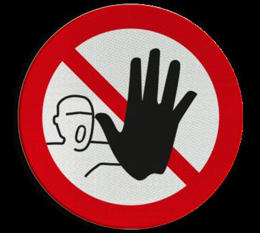 Bord Verboden toegang voor onbevoegden pictogram P000