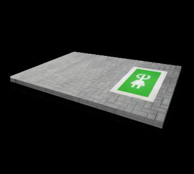Markering - wegenverf -  Oplaadpunt E-stekker