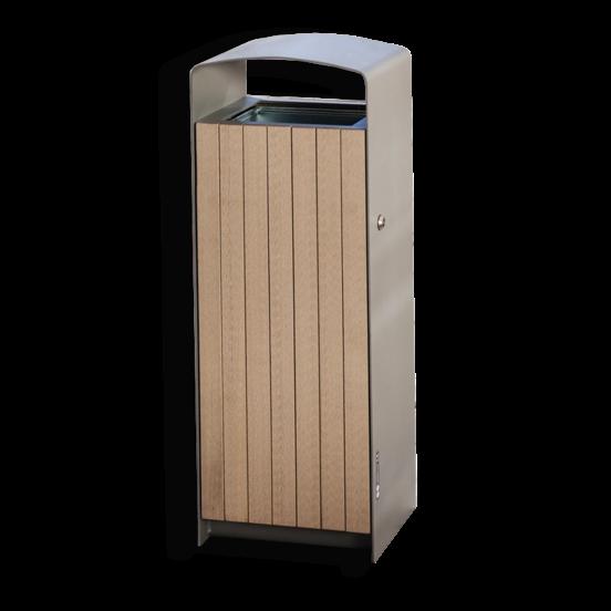 Super PRX stalen afvalbak met houten of stalen deurtje EP01