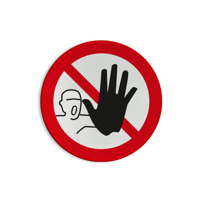 verbodsbord verboden toegang voor onbevoegden pictogram p000