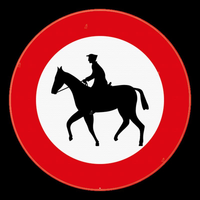 verkeersbord sb250 c15 verboden toegang voor ruiters c