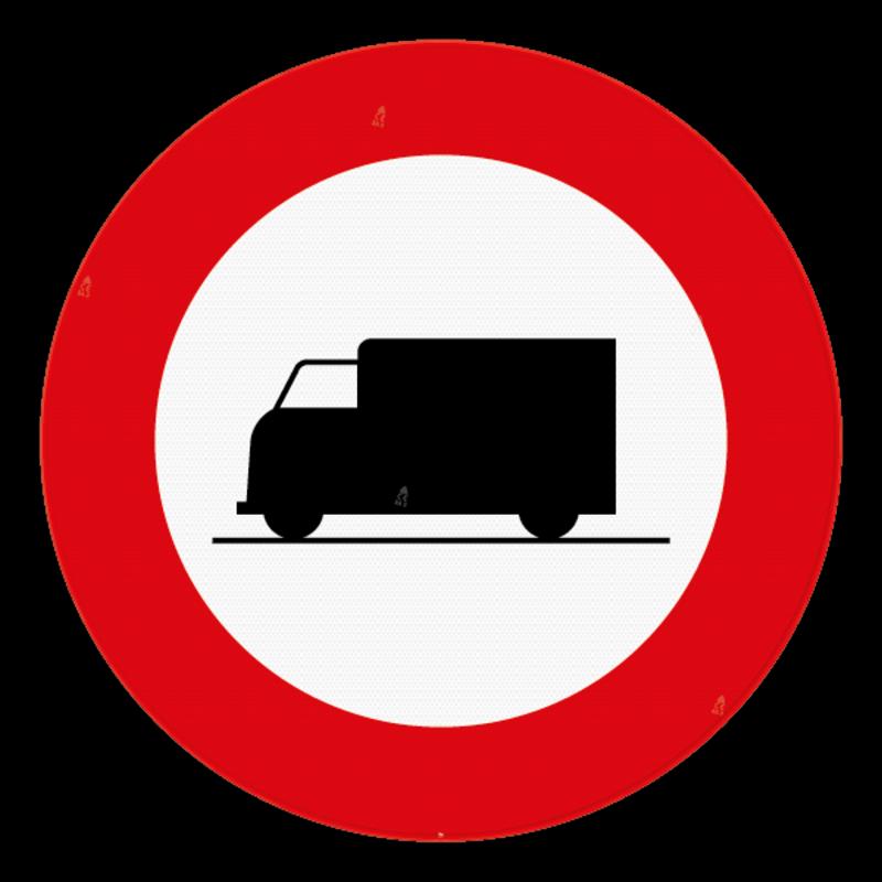 verkeersbord sb250 c23 verboden toegang voor voertuigen