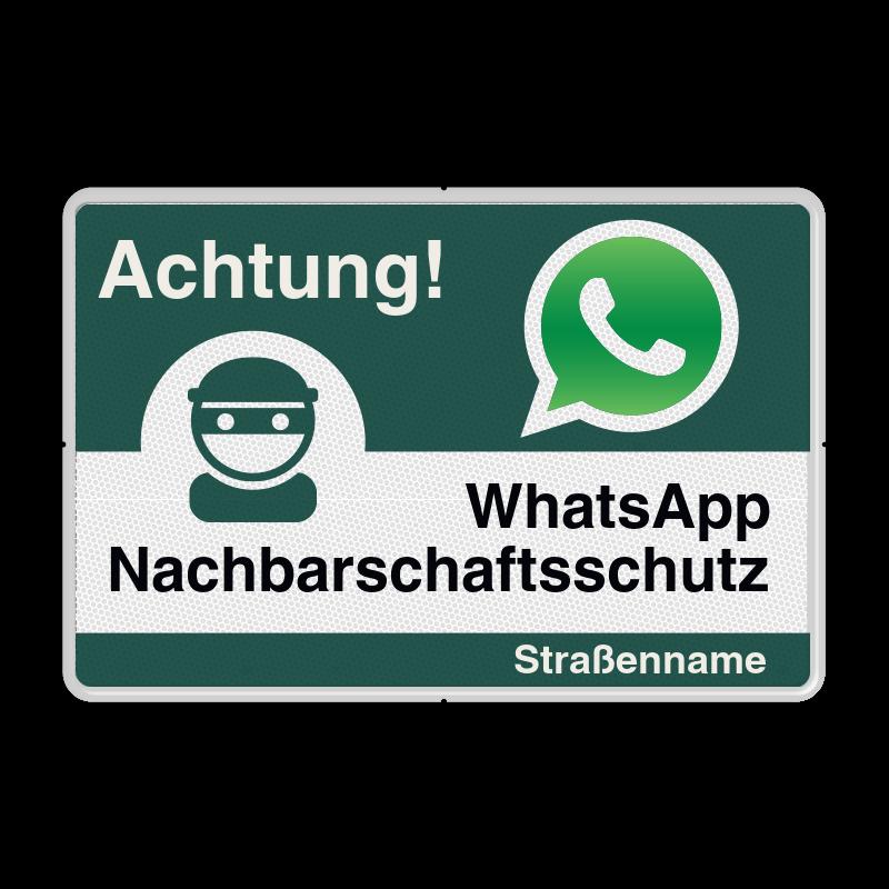 Whatsapp Achtung Nachbarschaftsschutz 2x Verkehrsschild