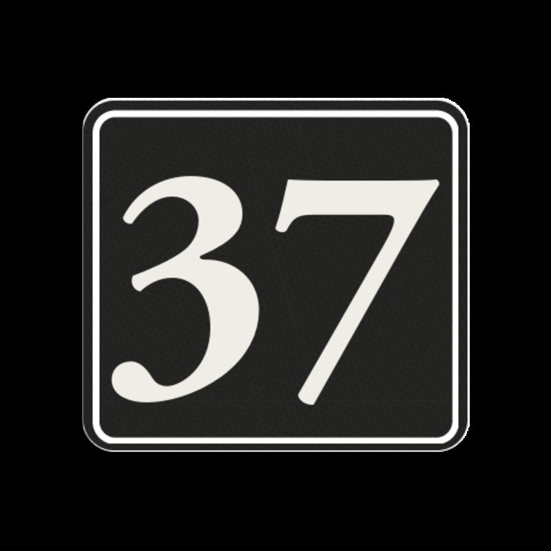 c8eab3cfed5 Huisnummerbord Huisnummerbord LOS Huisnummerbord reflecterend 119x109mm  Huisnummerbord, huisnummer, 119x109, Klassiek, Klassiek lettertype