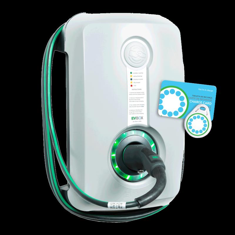 Evbox Homeline Smart Met Laadpas Systeem En Vaste Kabel