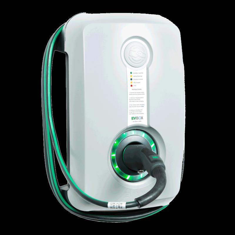 Ev Box Thuislader Voor Elektrische Auto Met Vaste Kabel Oplaadpaal