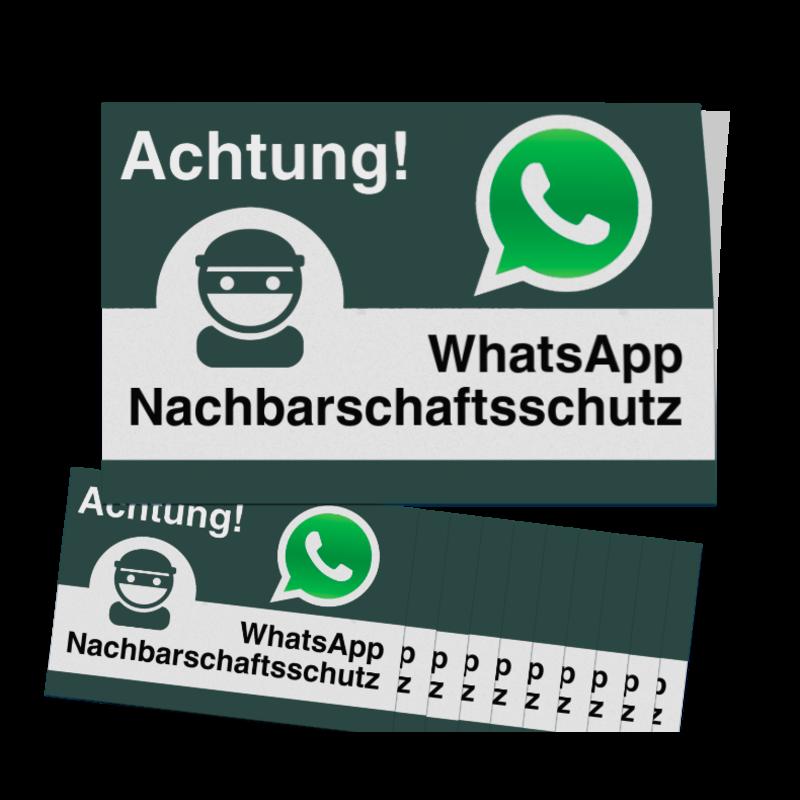 Whatsapp Achtung Nachbarschaftsschutz Aufkleber 10 Stück