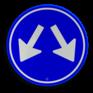 Verkeersbord D03 - Gebod te passeren aan 2 zijden