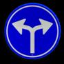 Verkeersbord D07 - Verplichte rijrichting links of rechtsaf