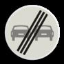 Verkeersbord F02 - Einde inhaalverbod voertuigen