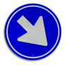 Verkeersbord D02 - Gebod te passeren