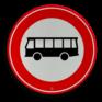 Verkeersbord C07a - Gesloten voor bussen