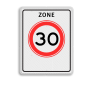 Verkeersbord A01-030zb - Begin zone maximum snelheid 30 km/h