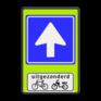 Verkeersbord C03-OB54f - Eenrichtingsweg met uitzondering