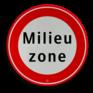 Verkeersbord C22a - Begin milieuzone