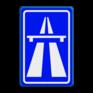 Verkeersbord G01 - Autosnelweg