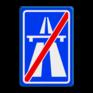 Verkeersbord G02 - Einde autosnelweg