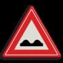 Verkeersbord J01 - Vooraanduiding slecht wegdek