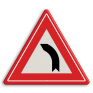 Verkeersbord J03 - Vooraanduiding bocht naar links