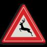 Verkeersbord J27 - Vooraanduiding groot wild