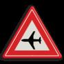 Verkeersbord J30 - Vooraanduiding laagvliegende vliegtuigen