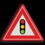 Verkeersbord J32 - Vooraanduiding verkeerslichten