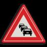 Verkeersbord J33 - Vooraanduiding file