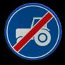 Verkeersbord F12 - Einde passeerstrook langzaam verkeer