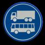 Verkeersbord F19 - Rijbaan of -strook lijnbussen en vrachtauto's