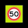 Verkeersbord A01-050f - Maximum snelheid 50 km/h