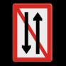 Scheepvaartbord A. 4 - Ontmoeten en voorbijlopen verboden