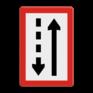 Scheepvaartbord B. 3b - Verplicht zich aan de stuurboordzijde van het vaarwater te houden