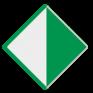 Scheepvaartbord D. 2a - Aanbeveling binnen de aangegeven begrenzing te varen - rechts