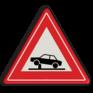 Verkeersbord J39 - Vooraanduiding beweegbare verkeerspaal