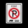 Verkeersbord E201 - ZONE parkeerverbod voor vrachtauto's en bussen.