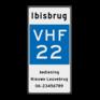Scheepvaartbord E.23 + tekst - Marifoonkanaal voor nautische informatie