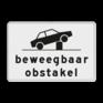 Verkeersbord OB627 - Onderbord - Beweegbaar obstakel