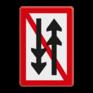 Scheepvaartbord A. 4.1 - Ontmoeten en voorbijlopen samenstellen onderling verboden