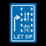 Verkeersbord VR09-04 - Let op: recht doorgaande fietsers en bromfietsers in twee richtingen